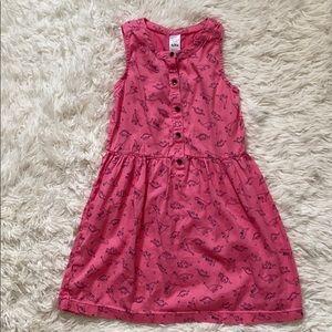 Carter's girls dinosaur dress size 6/6X